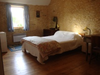 The second double bedroom, with a single bed on the mezzanine level.