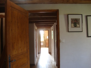 Looking along the corridor from the second double bedroom to the main bedroom.