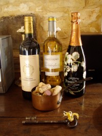 Guests often comment on the affordability of favorite champagnes and wines - easily purchased at the nearby supermarket.