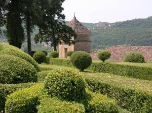 View to Beynac from the gardens of Marqueyssac